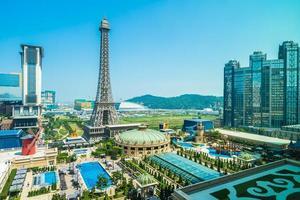 Eiffel tower, landmark of Parisian hotel and resort in Macau city, 2018 photo