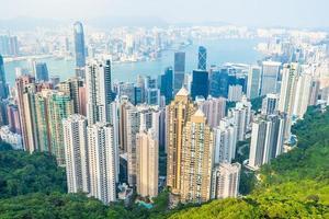 Cityscape of Hong Kong City, China