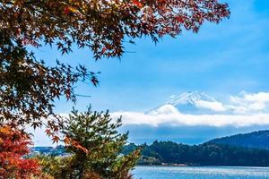 monte. fuji en japón en otoño
