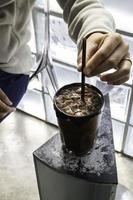 Homemade iced chocolate drink