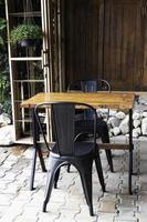 muebles de exterior de café mínimo