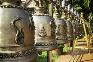 Thai hanging bells in a public temple