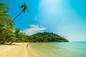 Beach on a beautiful paradise island photo