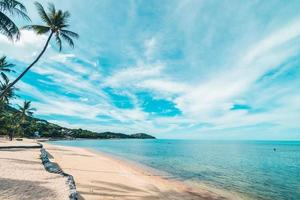hermosa playa tropical foto