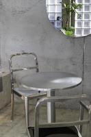 conjunto de muebles modernos de acero inoxidable