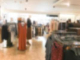 Abstract blurred shopping mall