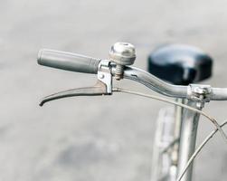 primer plano de bicicleta clásica