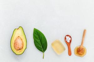 Homemade skincare items photo