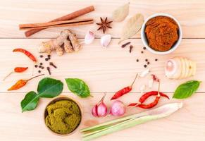 Assortment of cooking ingredients photo
