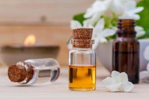 Essential oils and jasmine flowers