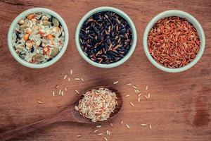 Bowls of grains photo