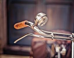 primer plano, de, un, mango de bicicleta foto