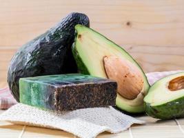 Avocado skin scrub photo