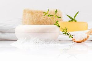 Herbal spa soap photo