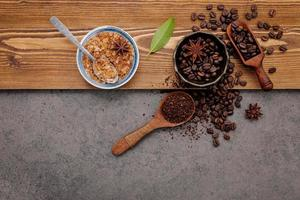 Flavorful cup of coffee concept