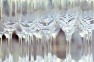 Close-up of stemmed glasses