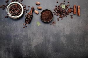 concepto de café aromatizado con espacio de copia foto