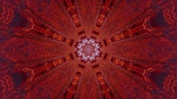 Ilustración de diseño de caleidoscopio 3d azul, rojo y morado para fondo o textura