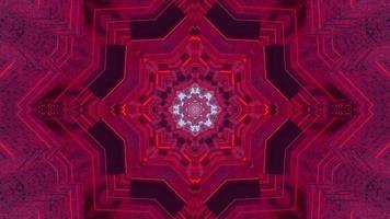 Ilustración de diseño de caleidoscopio 3d floral azul para fondo o textura