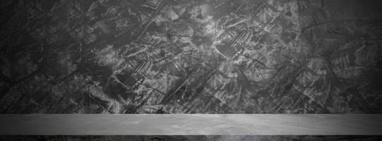 banner de pared grunge negro foto