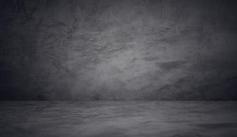 Fondo de estudio de cemento de pared negro oscuro foto