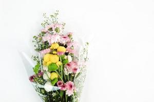 Pretty floral bouquet on white background photo