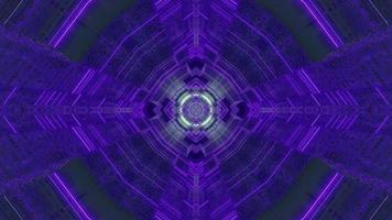 Blue, green, and purple floral 3D kaleidoscope design illustration for background or texture