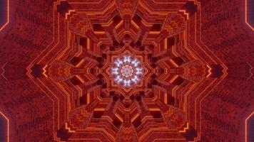 3D kaleidoscope design illustration for background or texture