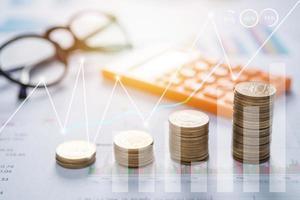 gráfico de negocios de finanzas y dinero