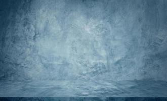 Fondo de estudio de mesa de cemento azul foto