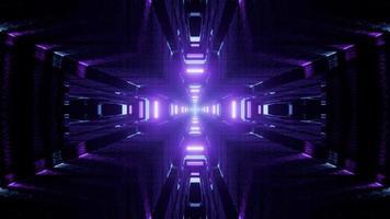 Colorful cross shape 3D kaleidoscope design illustration for background or texture