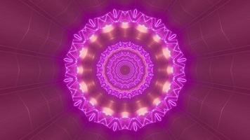 Pink and purple 3D kaleidoscope design illustration for background or texture