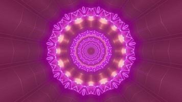 Ilustración de diseño de caleidoscopio 3d rosa y morado para fondo o textura