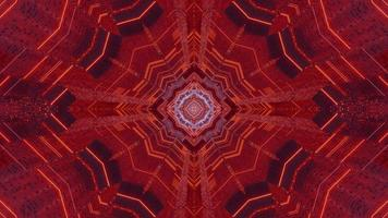 Red and blue 3D kaleidoscope design illustration for background or texture