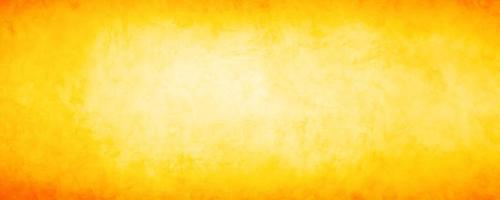 Banner horizontal grunge amarillo y naranja