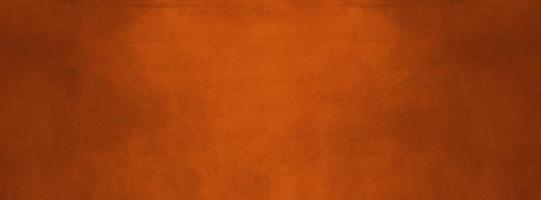 Banner de pared de textura de cemento oscuro y naranja quemado