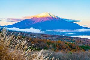 Fuji mountain at the Yamanakako or Yamanaka lake in Japan