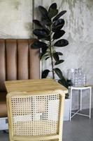 Minimal cafe decoration with simple furniture set
