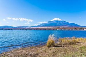 Lake Yamanakako at Mt. Fuji in Japan photo