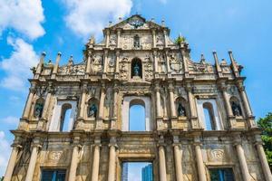 S t. Paul Church en la ciudad de Macao