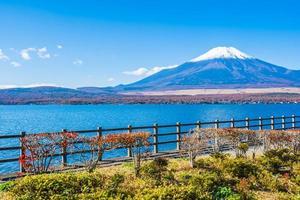 Lake Yamanakako at Mt. Fuji, Japan photo