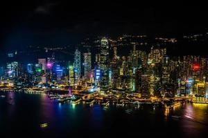 paisaje urbano de la ciudad de hong kong, china foto