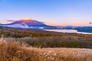 Fuji mountain at Yamanakako or Yamanaka lake in Japan