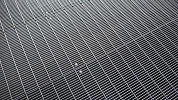 Metal walkway of a bridge in New York City photo