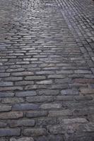 Old stone street in Brooklyn, NY photo