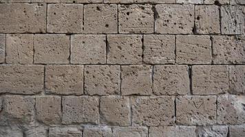 Old limestone wall photo