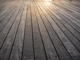Boardwalk planks on sunset