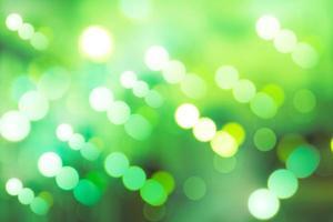 círculos borrosos de iluminación led verde
