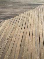 Boardwalk with diagonal planks