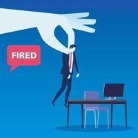escena de empresario despedido vector
